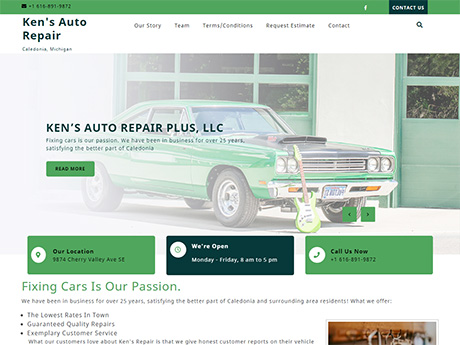Ken's Auto Repair Plus in Caledonia, Michigan home page