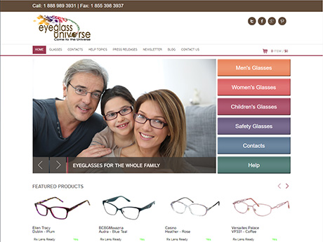 Eyeglass Universe home page